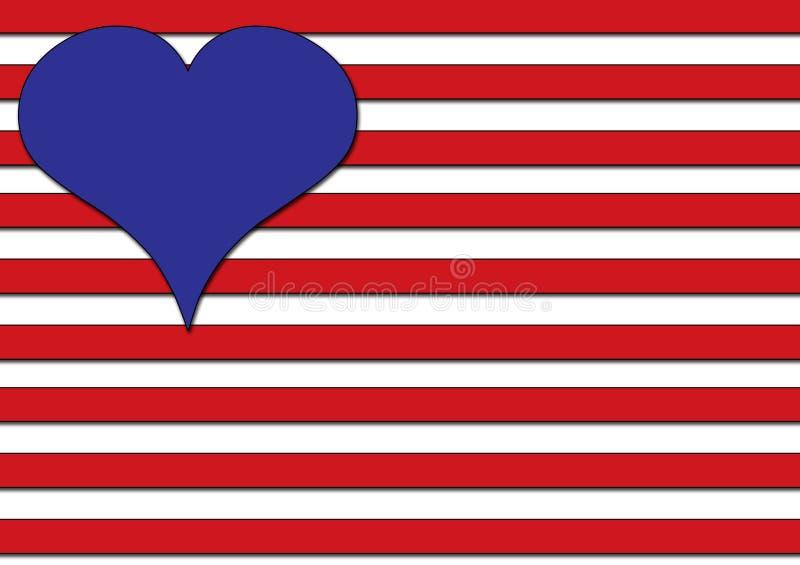 Amor nos EUA ilustração royalty free
