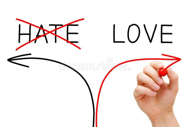 Amor ou ódio foto de stock royalty free