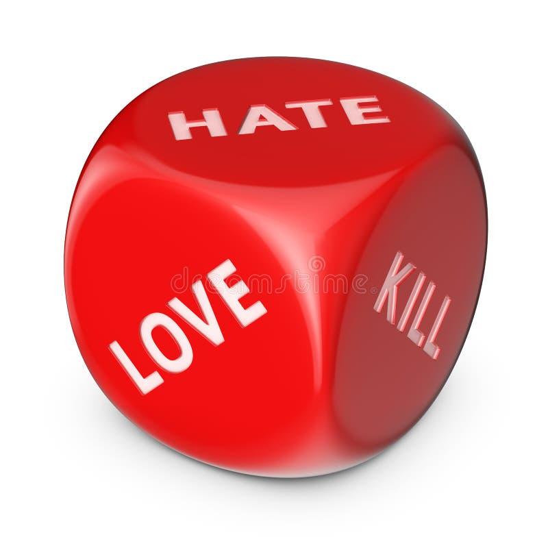 Amor ou ódio? ilustração royalty free