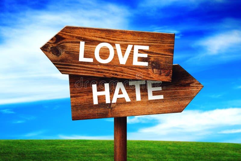 Amor ou ódio imagem de stock