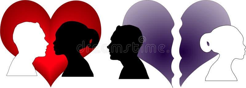 Amor ou para não amar ilustração royalty free