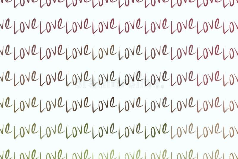 Amor para el día de San Valentín, celebraciones o extracto del aniversario, textura de la mano, contexto o fondo exhausto stock de ilustración