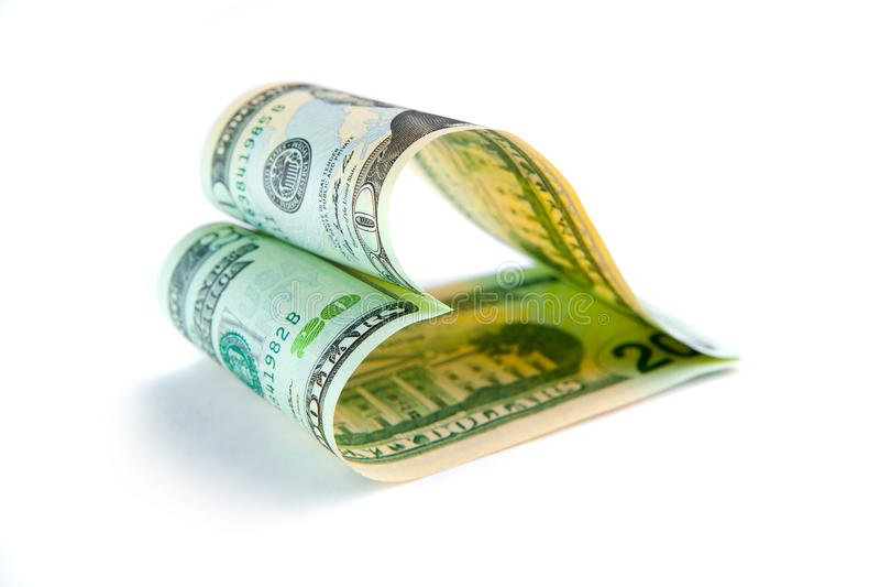 Amor para el dinero fotos de archivo