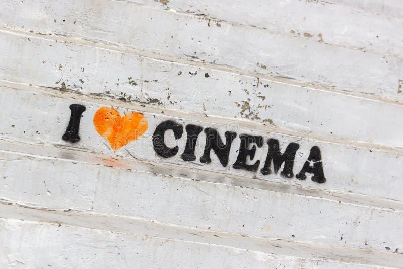 Amor para la cinematografía fotografía de archivo libre de regalías