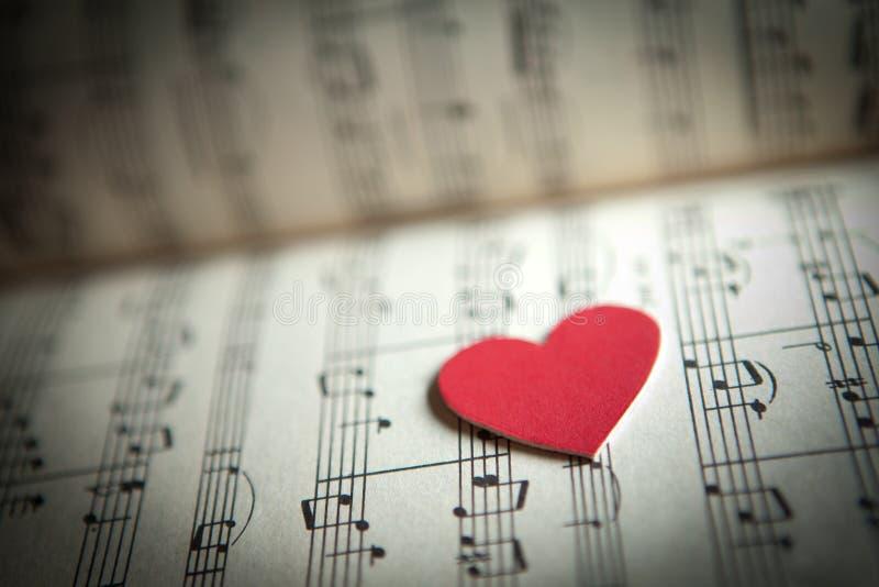 Amor para a música fotografia de stock