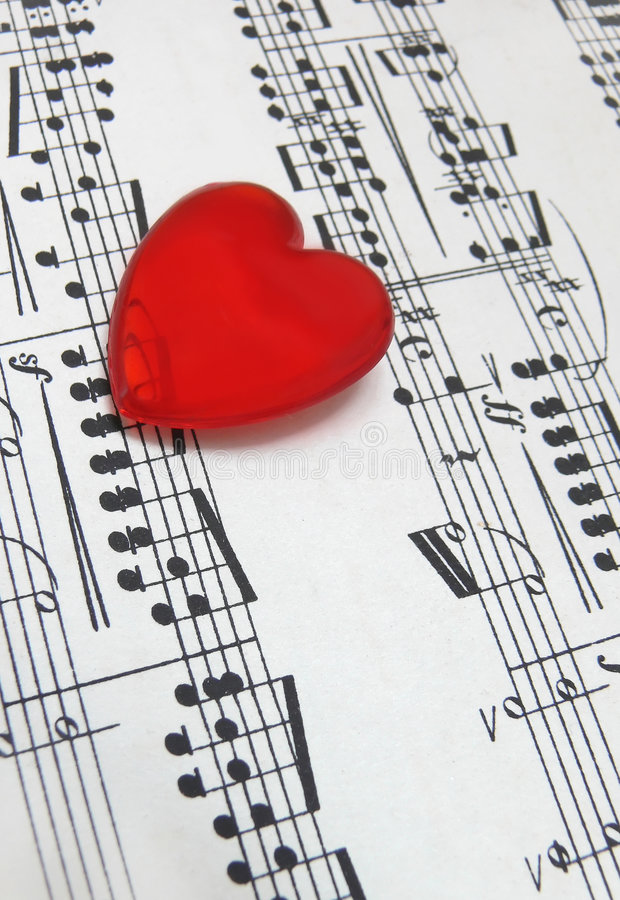 Amor para a música fotos de stock royalty free