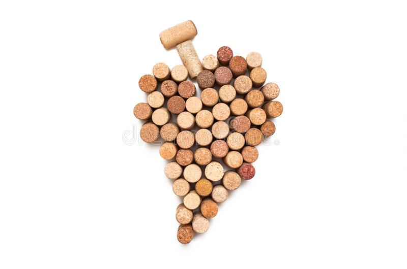 Amor para o vinho S?mbolo do cora??o da corti?a do vinho foto de stock