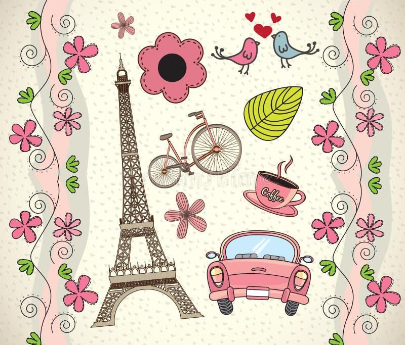 Amor Paris ilustração stock