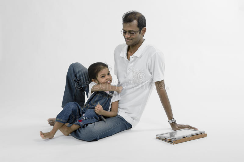Amor paterno. imagens de stock royalty free