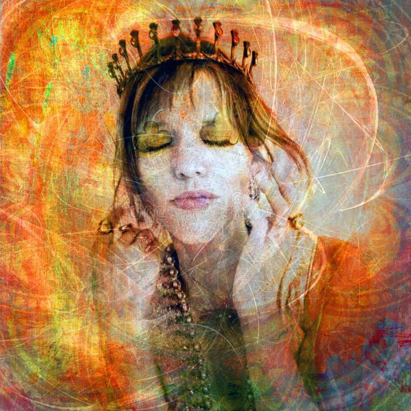 Amor-próprio da princesa Elevado ilustração stock