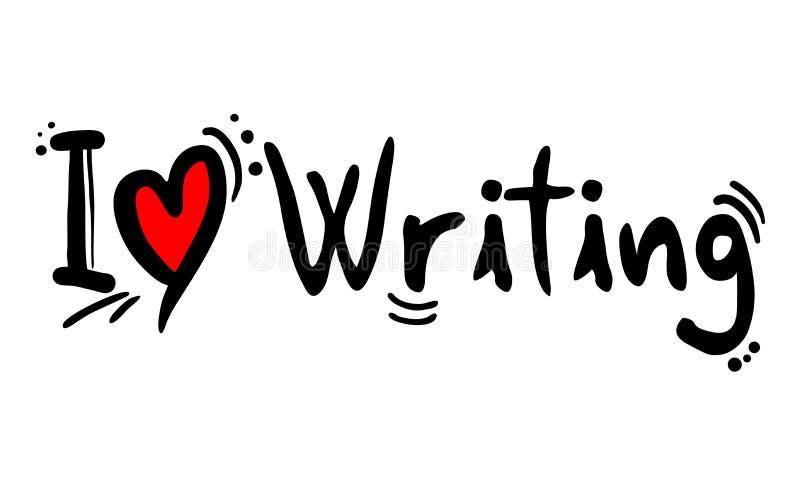 Amor que escribe el mensaje stock de ilustración