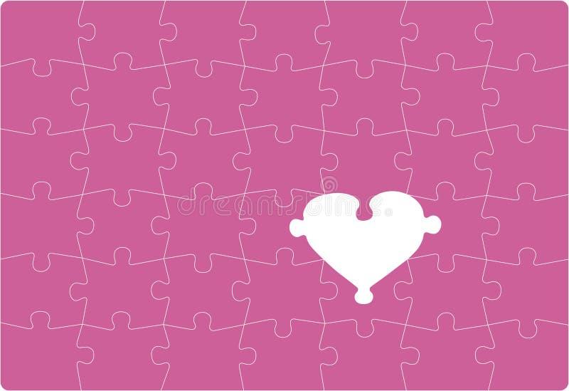 Amor que falta ilustración del vector