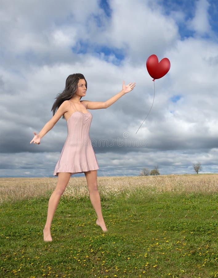 Amor, romance, esperança, beleza, mulher fotos de stock