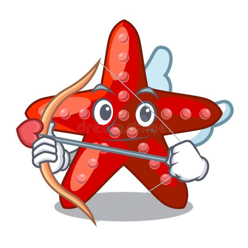 Amor rote Starfish lokalisiert mit dem Charakter lizenzfreie abbildung