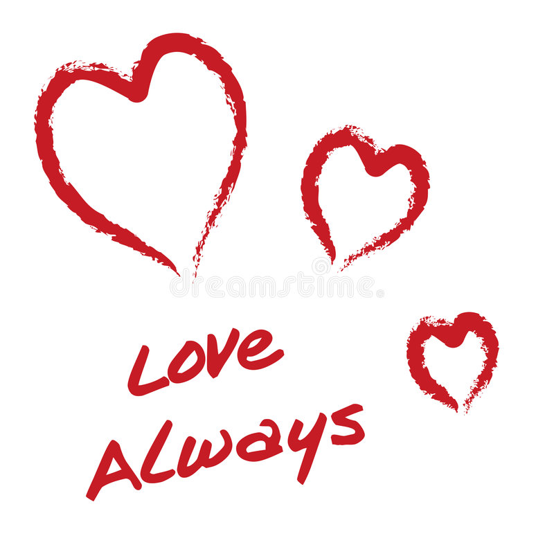 Amor sempre ilustração stock