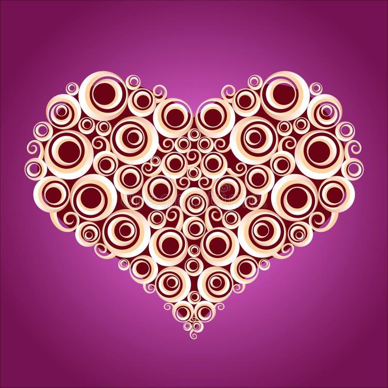 Amor shape2 ilustração stock