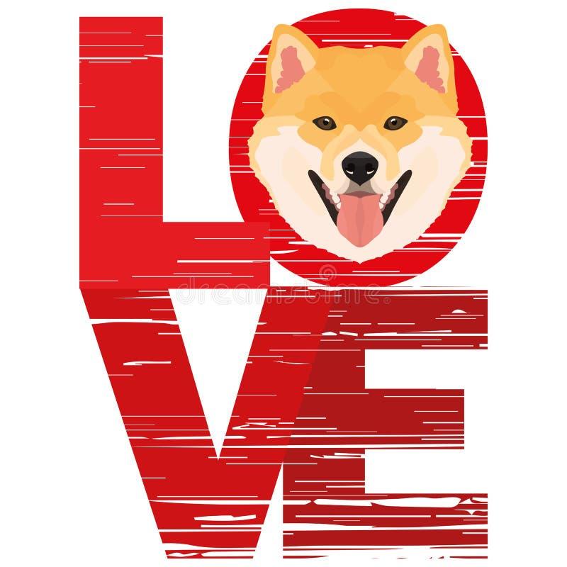 Amor Shiba Inu libre illustration