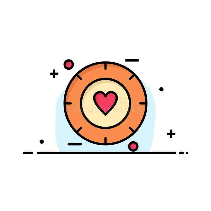 Amor, sinal, Valentim, negócio Logo Template do casamento cor lisa ilustração royalty free