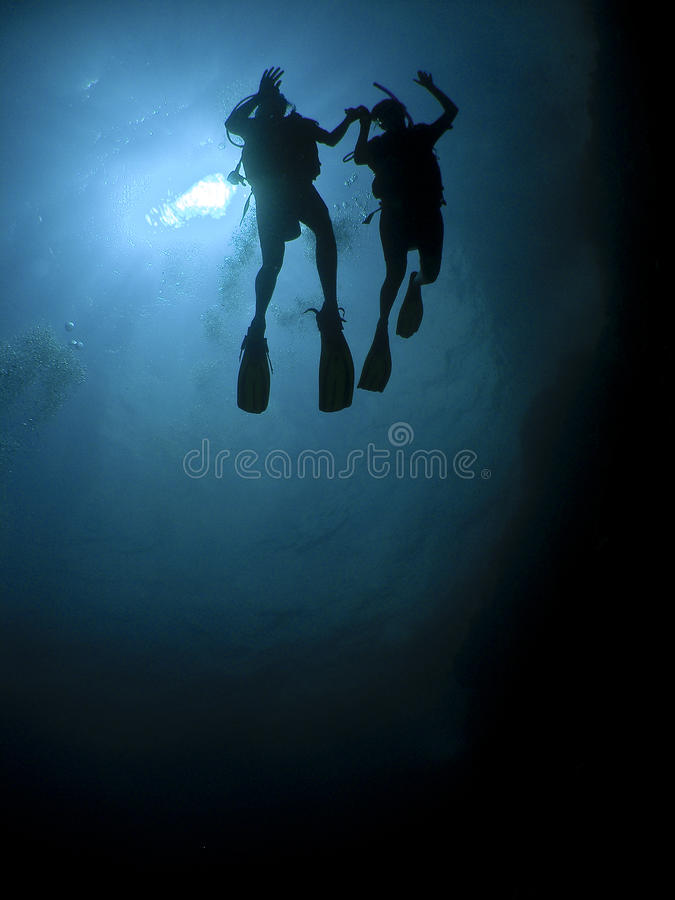 Amor subaquático imagens de stock royalty free
