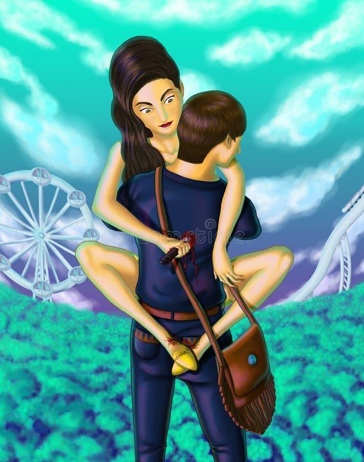 Amor traído ilustração royalty free