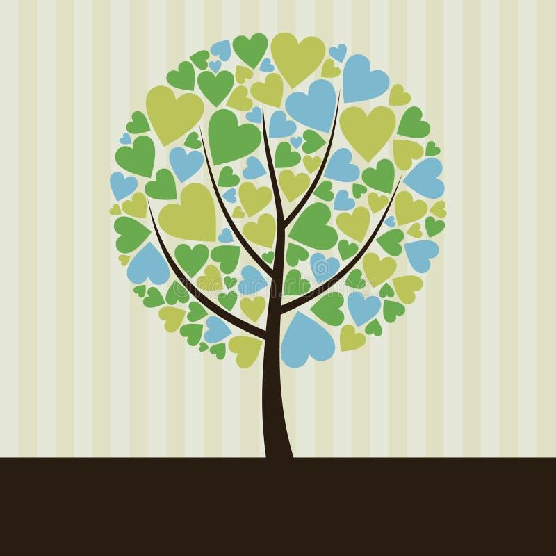 Amor tree2 ilustração stock