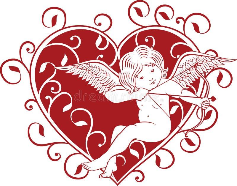 Amor und Herz vektor abbildung