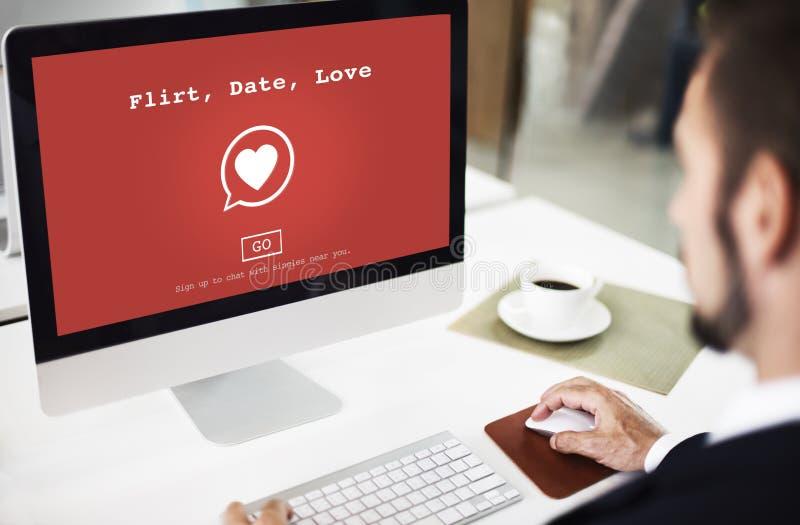 Amor Valentine Romance Love Heart Flirting da data da namoradeira que data o engodo imagem de stock royalty free
