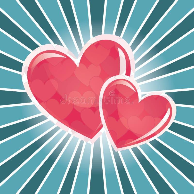 Amor verdadeiro ilustração stock