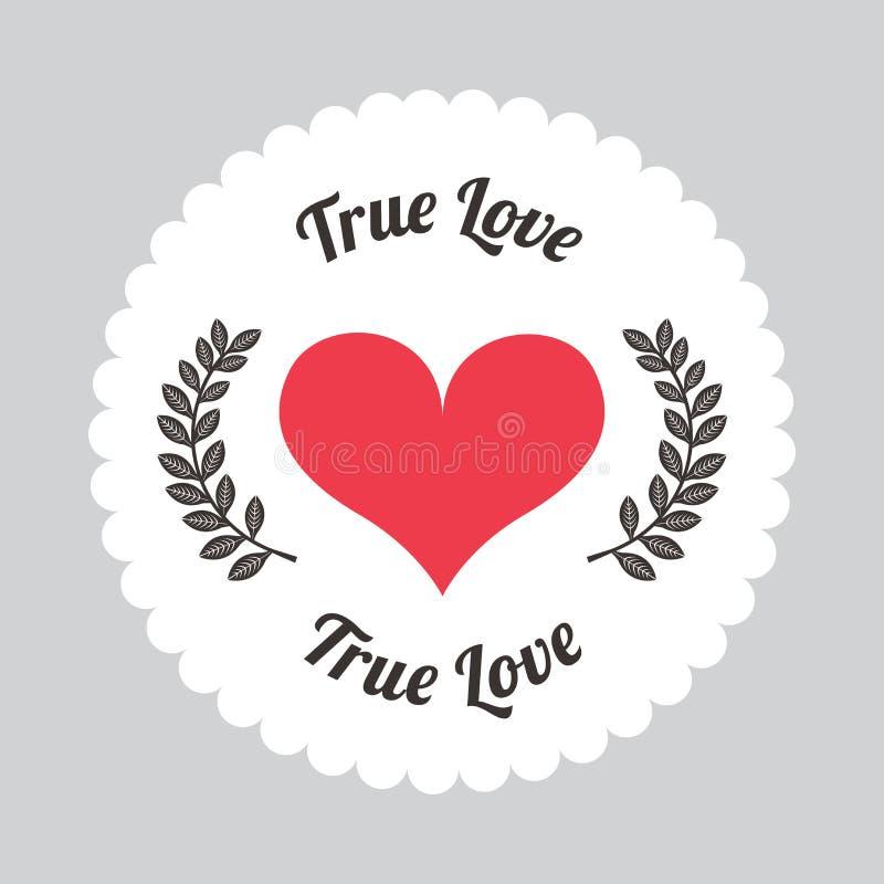 Amor verdadeiro ilustração royalty free