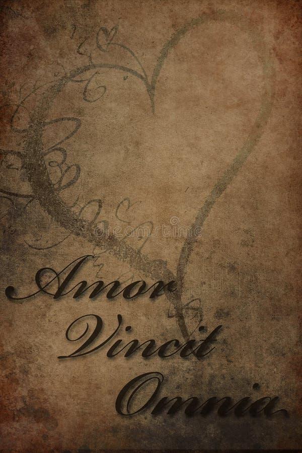 Amor Vincit Omnia foto de stock royalty free