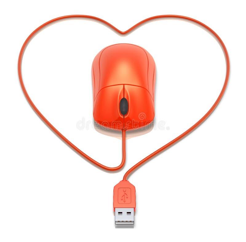 Amor virtual ilustração do vetor
