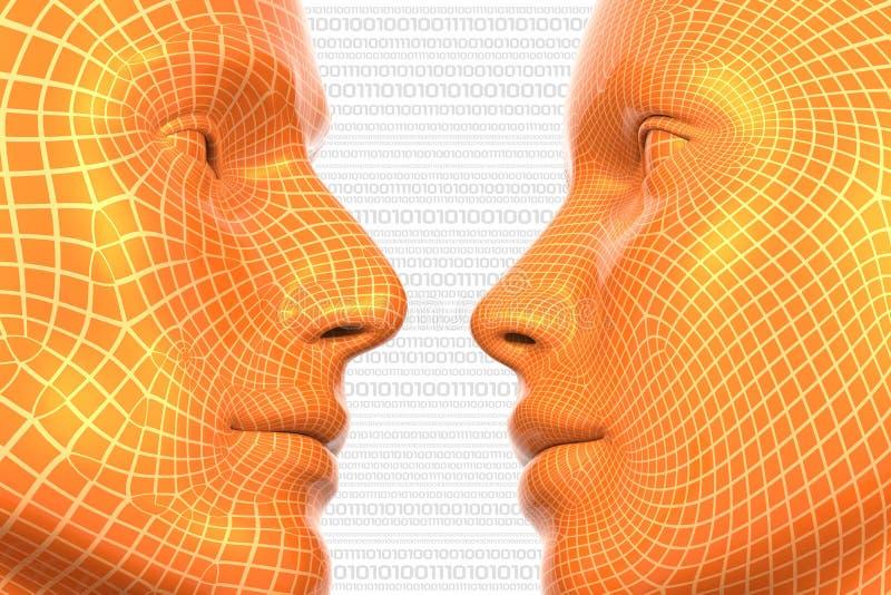Amor virtual ilustração stock