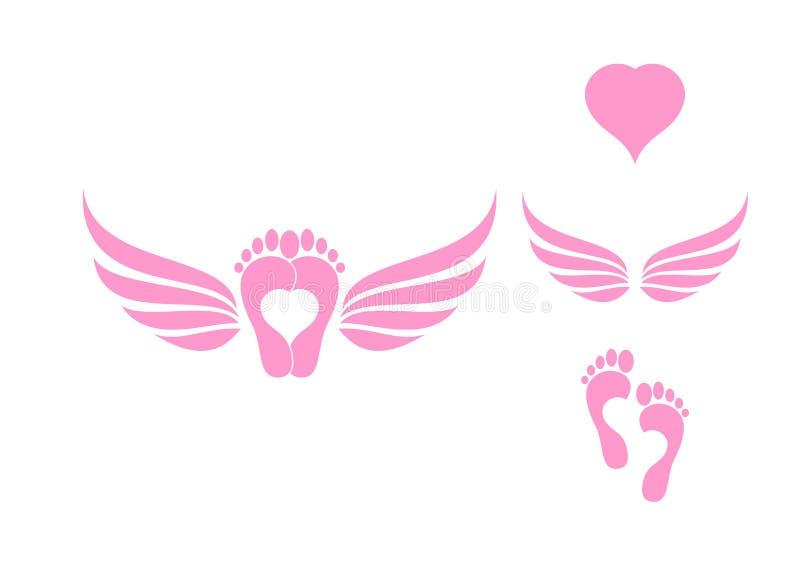 Amor y alas ilustración del vector