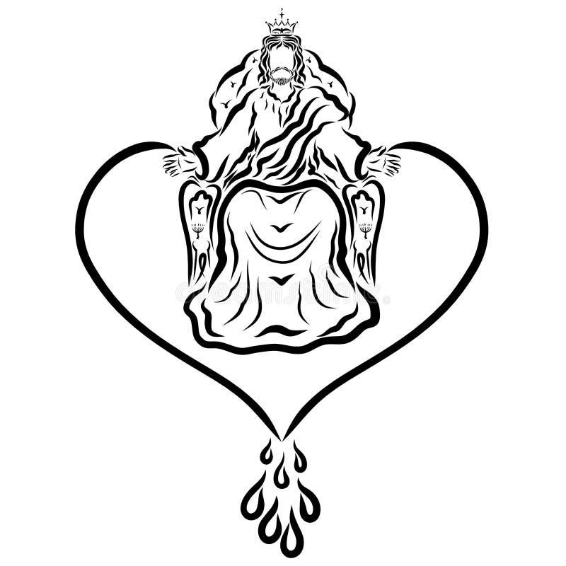 Amor y bendición de Lord Jesus reinante libre illustration