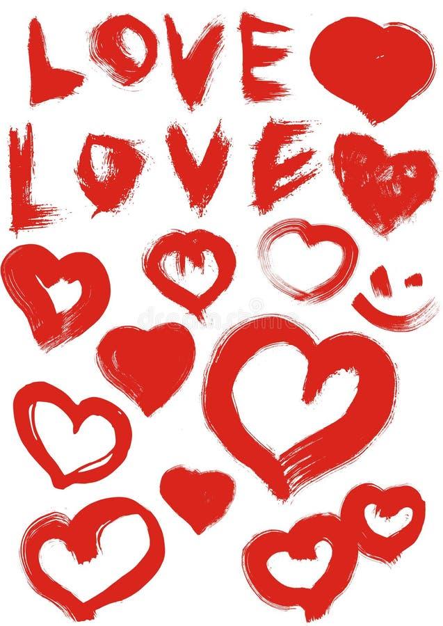 Amor y corazón ilustración del vector