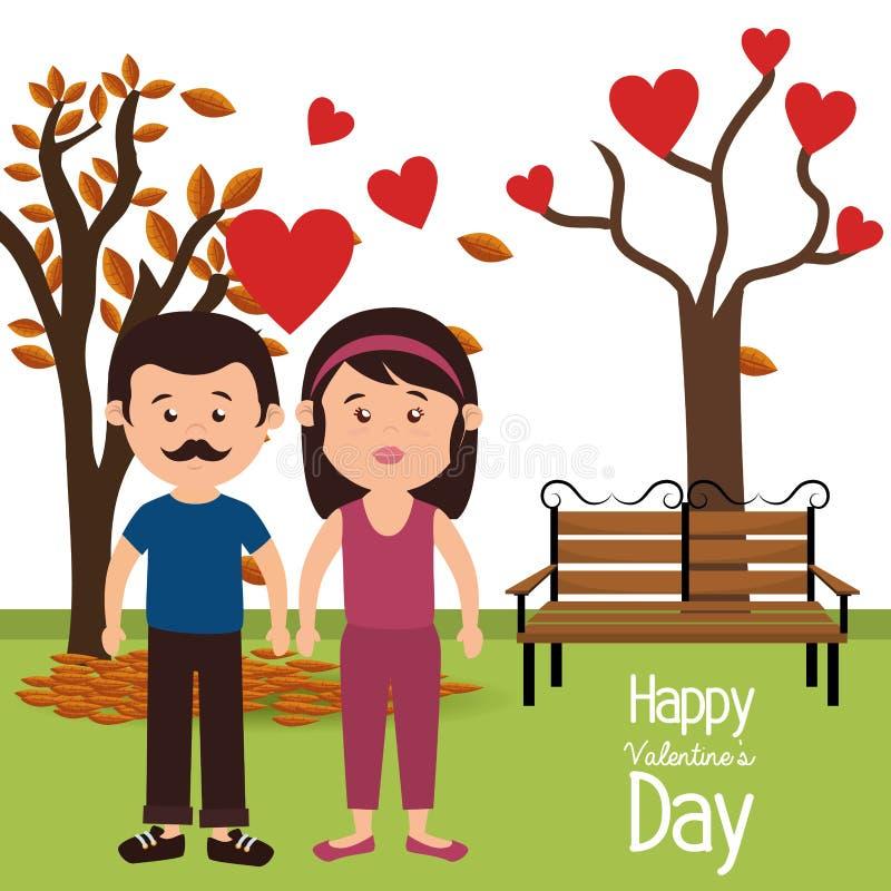 Amor y día de tarjetas del día de San Valentín libre illustration