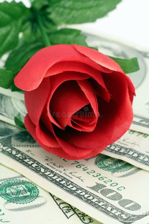 Amor y dinero foto de archivo