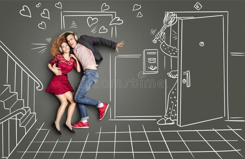 Amor y golpe ilustración del vector