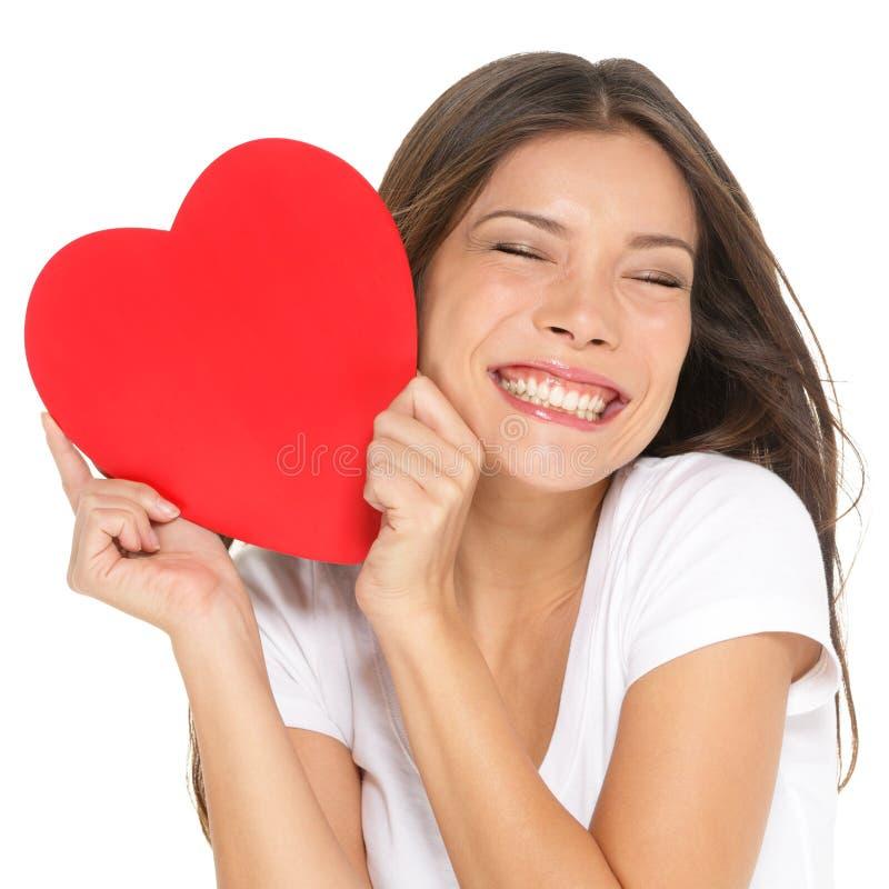 Amor y mujer del día de tarjetas del día de San Valentín fotografía de archivo