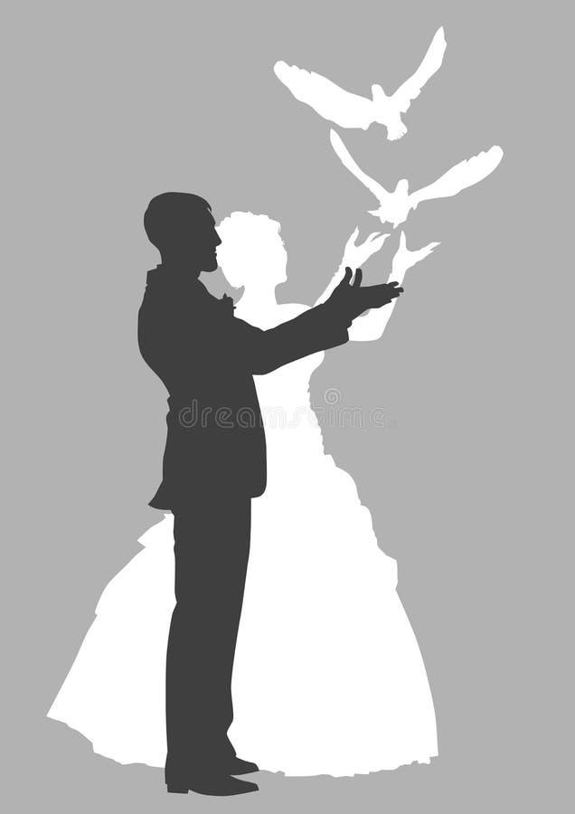 Amor y palomas libre illustration