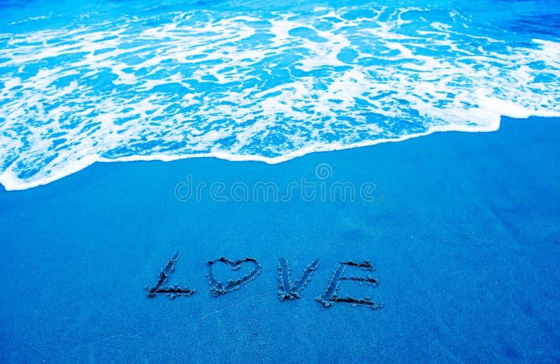 Amor y playa fotografía de archivo libre de regalías