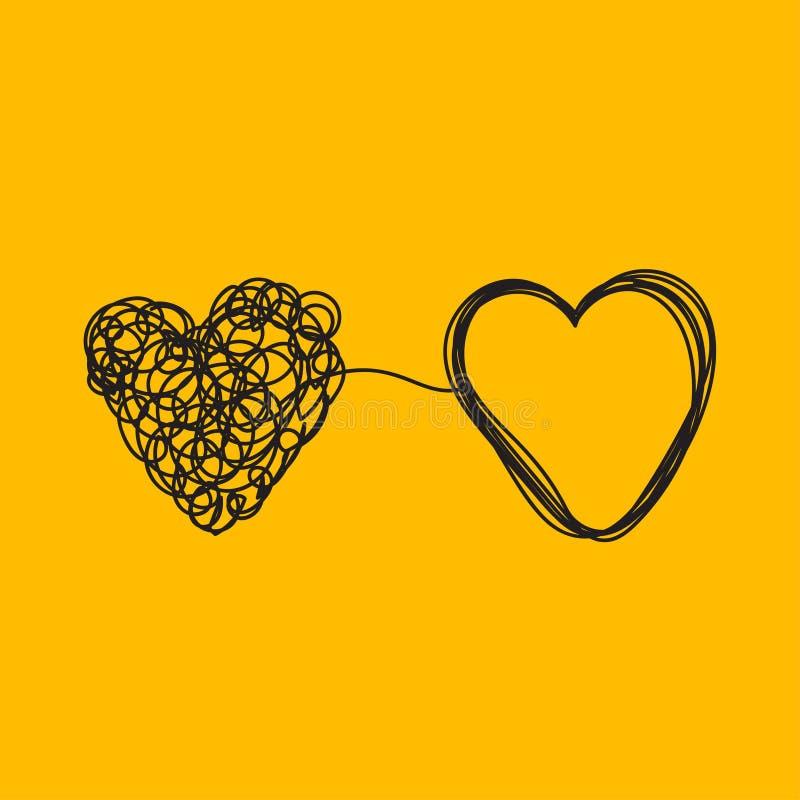 Amor y relaciones ilustración del vector