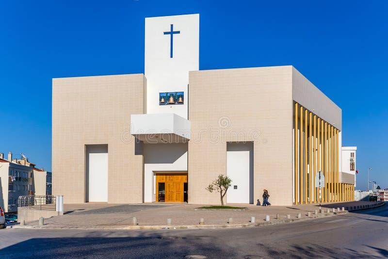 Amora新的天主教会在2007年开始了 免版税库存照片