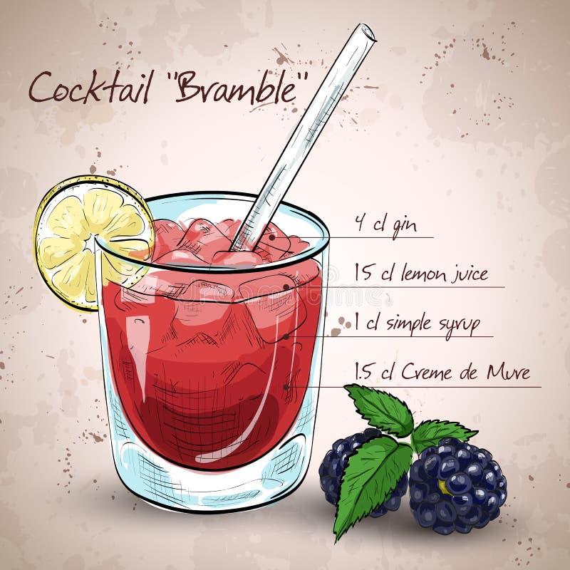 Amora alcoólica do cocktail ilustração royalty free
