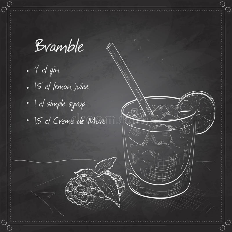 Amora do cocktail na placa preta ilustração royalty free
