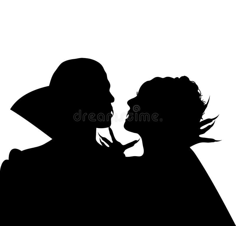Amore 1 del vampiro illustrazione di stock