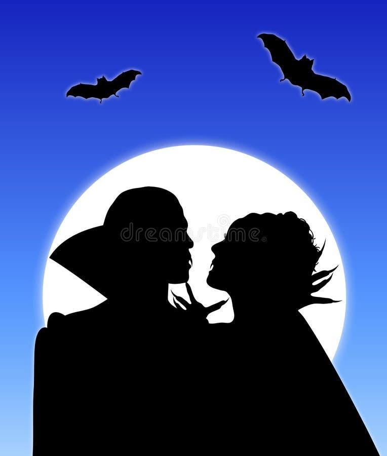 Amore 2 del vampiro illustrazione di stock