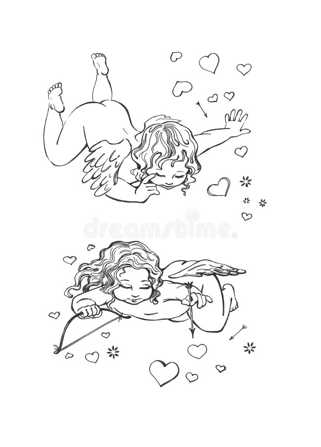 Amore al cielo illustrazione di stock