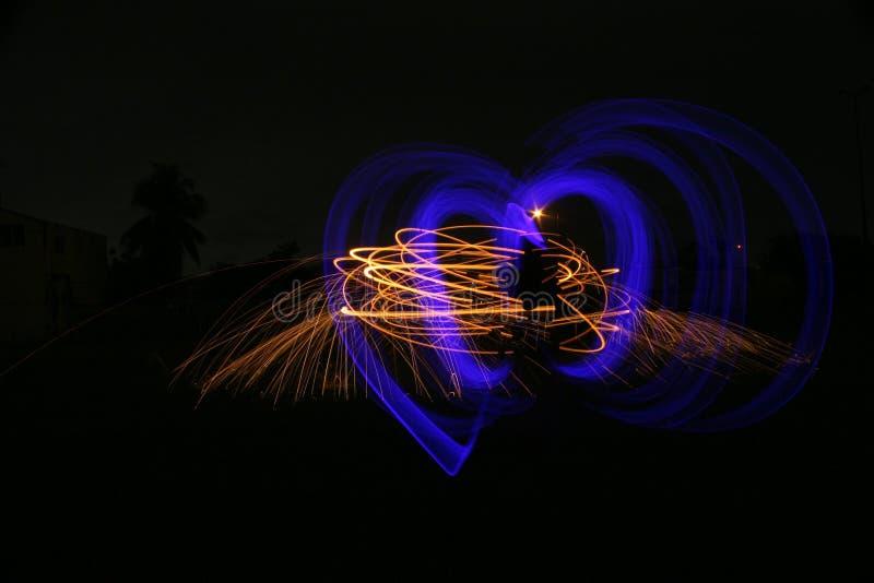 Amore alle luci fotografia stock libera da diritti