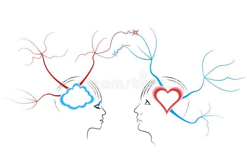 Amore astratto illustrazione di stock
